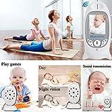 Babyphone mit Kamera Video Überwachung Baby Monitor Wireless 3.2' TFT LCD Digital dual Audio Funktion,Temperatursensor, Schlaflieder, Nachtsicht, Gegensprechfunktion