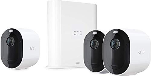 Arlo Pro3 WLAN Überwachungskamera & Alarmanlage, 2K UHD, 3er Set, Smart Home, kabellos,...