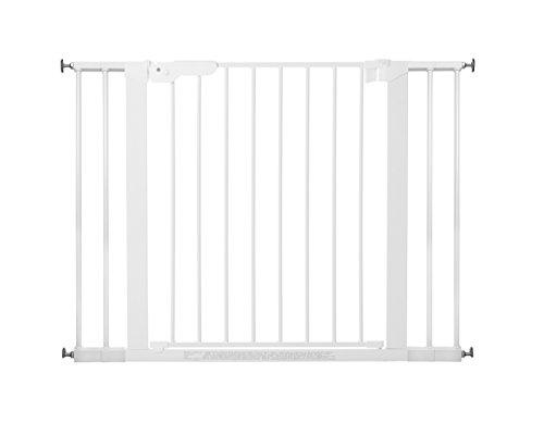 BabyDan Premier Türschutzgitter / Treppenschutzgitter zum Klemmen, 99 cm - 106.3 cm - hergestellt in Dänemark und vom TÜV GS geprüft, Farbe: Weiß