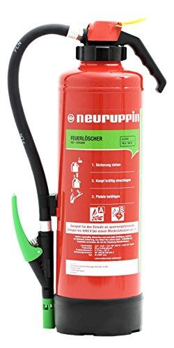 Neuruppin Feuerlöscher 6L Schaum Auflade - Löscher S6 SKP eco Premium 10 LE + ANDRIS Prüfnachweis und Feuerlöscher Symbolschild Folie