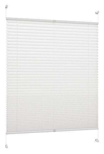 DecoProfi Plissee, Stoff, Weiß, 80 cm x 130 cm