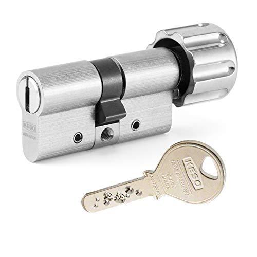 KESO 2500FP Knaufzylinder 30/35K inkl. 3 Schlüssel - Wendeschlüssel-Sicherheitszylinder -...