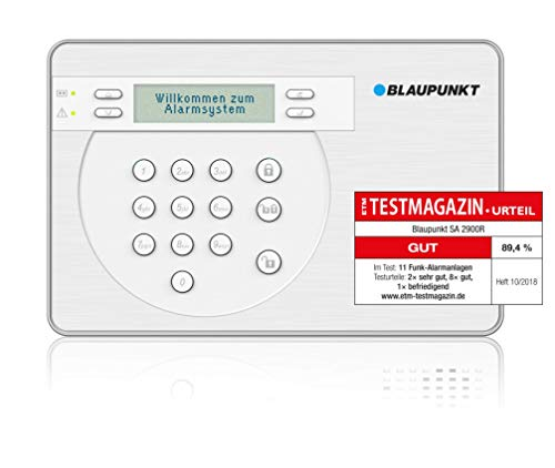Blaupunkt SA 2900R Smart GSM Funk-Alarmanlage, Funk-Sicherheitssystem Set mit Bewegungsmelder, Tür/Fenstersensor, Fernbedienung & App, für Haus, Wohnung, Büro, Geschäft