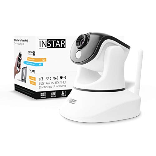 INSTAR IN-6014HD Weiss - WLAN Überwachungskamera - IP Kamera - steuerbar - Innenkamera – Mikrofon...
