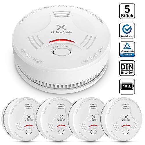 X-Sense Rauchmelder SD11| TÜV und DIN EN 14604 geprüfter Rauchwarnmelder mit 10 Jahren...