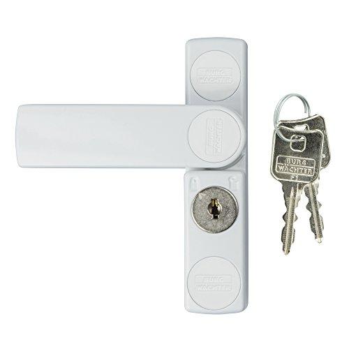 BURG-WÄCHTER Fenstersicherung, Einbruchschutz für Fenster und Balkontüren, Abschließbar, Innen,...