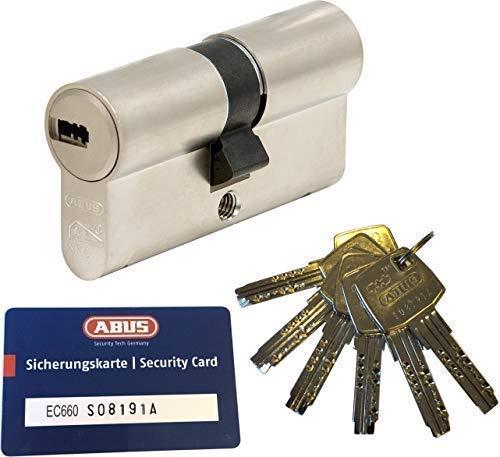 ABUS EC660 Profil-Doppelzylinder Länge (a/b) 45/60mm (c=105mm) mit 6 Schlüssel, mit...