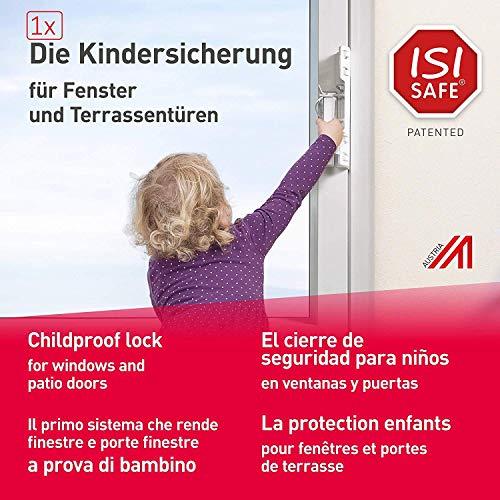 Fenstergriff-Kindersicherung - ISI SAFE macht Fenster, Balkon- und Terrassentüren kindersicher