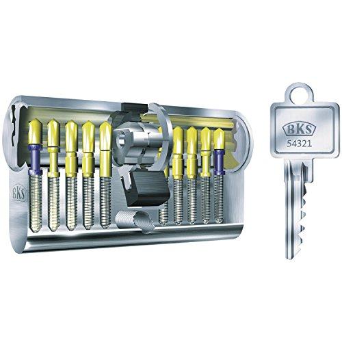 BKS Profilzylinder 88120014 N, mit GF, BL 31/31 mm, mit 3 Schlüsseln, 31/31